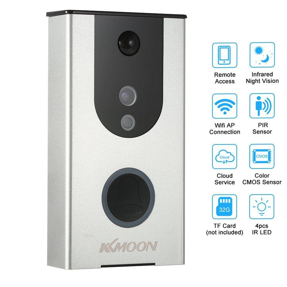 Lifesongs visuelle Klingel Wireless PIR 720P WLAN Video Intercom Türklingel Video Halterung A Input Intemperie Tamper Alarm für Access Control-Beweis für die Tür
