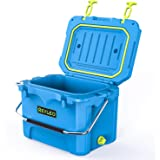 REYLEO 21/52 Quart Portable Rotomolded Cooler, Heavy-Duty Ice Chest with Fish Ruler/Tie-Down Points Keeps Ice Up to 4 Days Id