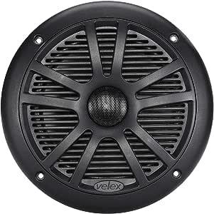 """Marine Speaker Waterproof 6.5"""" Black Color IPx5 1pc"""