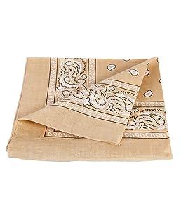 Bandana disponible en différentes couleurs de très haute qualité 100% coton, environ 54 x 54 cm Paisley,:beige 69