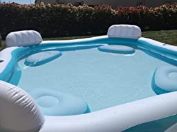Piscine gonflable 4 sieges for Piscine carree intex