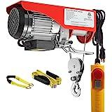 Partsam 440 lbs Lift Electric Hoist Crane Remote Control Power System, Zinc-Plated Steel Wire Overhead Crane Garage Ceiling P
