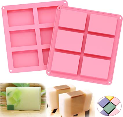 Amazon.com : Ozera 2 Pack Silicone Soap Molds, 6 Cavities Silicone Baking Mold Cake Pan for Soap Making, Pudding, Muffin, Loaf, Brownie, Cornbread and More : Arts, Crafts & Sewing