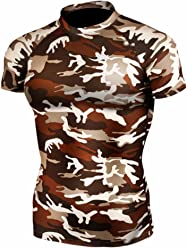 e15241f12d2 New 063 Skin Tight Compression Base Layer Camo T Shirt Short Sleeve Mens