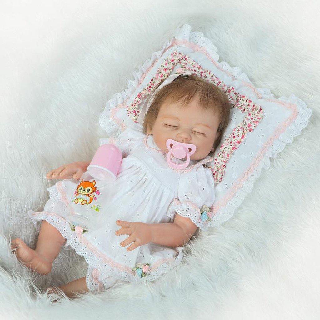 Felices compras Npkdoll Baby Doll 50,8 cm de de de haut en vinyle 48–50 cm de vos vêtements Cute Girl avec de jolies Yeux fermés Couverture Chapeau tétine aimantée toucher confortable 50F-7CES  ¡No dudes! ¡Compra ahora!