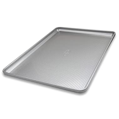 USA Pan 1056HS-1 Bakeware Heavy Duty Extra Large Sheet Warp Resistant Nonstick Baking Pan, Aluminized Steel