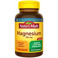 Nature Made Magnesium Oxide 250 mg Tablets, 200 Count Value Size (Packaging May...