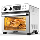 MOOSOO 10-in-1 Air Fryer Toaster Oven, 24 Quart/6 Slices Large Air Fryer Oven, Convection Oven Airfryer with Rotisserie, Dehy