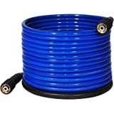 """YAMATIC Ultra Flexible Pressure Washer Hose 3200 PSI 1/4"""" x 50 ft. For M22-14mm Thread Gas Power Pressure Washer & High Elect"""