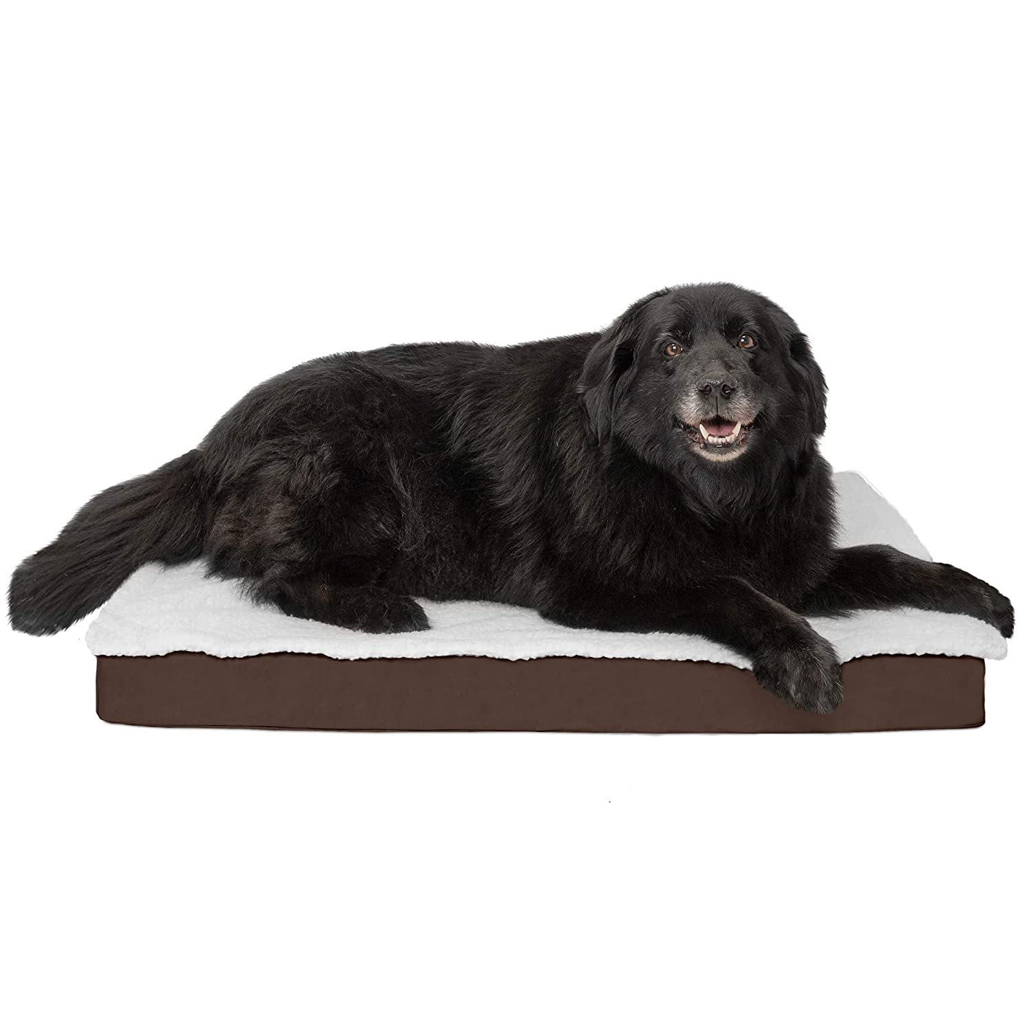 FurHaven Pet Dog Bed   Orthopedic Congreenible Pet Bed Mattress for Dogs & Cats, Espresso, Large