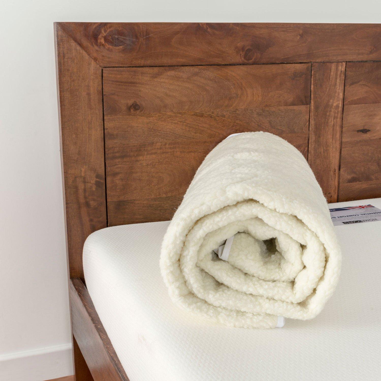 Homescapes Matratzenauflage 180 180 180 x 200 cm Füllung 100% weiße Gänsefedern Topper Bezug 100% Baumwolle waschbar und wunderbar weich 842bfb