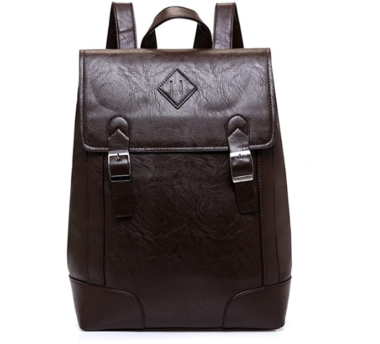 Brown One Size BULAGE Bag Male Bag Man Shoulder Leather Big Bag Outdoors Travel College Student High School Student Schoolbag Fashion Leisure