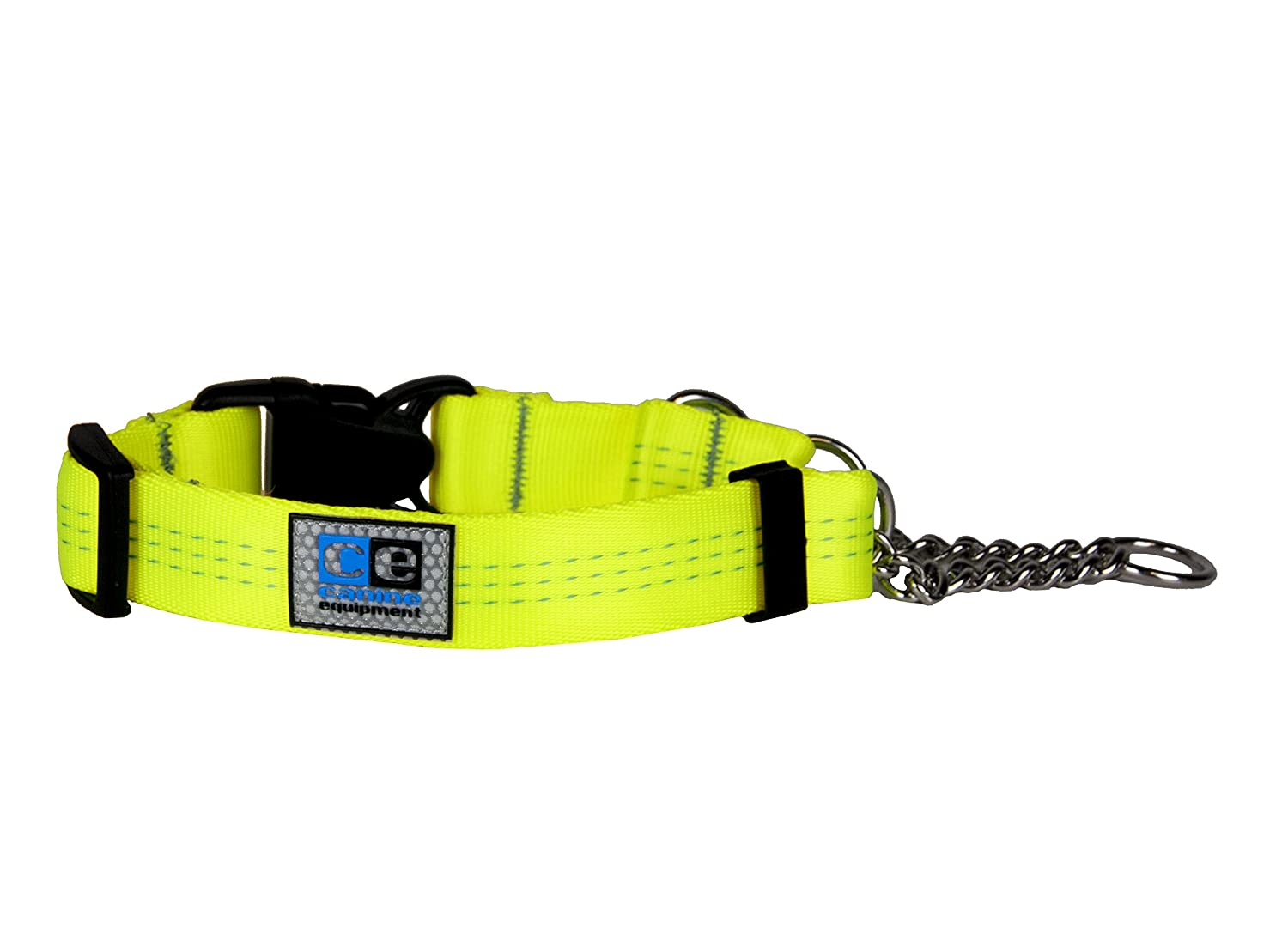Canine Equipment 1  Technika Quick Release Martingale Dog Collar, Large, Neon Yellow