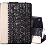 "WWW Case for New iPad 8th Gen (2020) / 7th Generation (2019) 10.2"",[Luxury Laser Flower] Case with [Apple Pencil Holder] [Aut"
