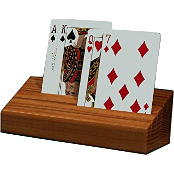 """Set Of 4 Wooden Playing Card Holders In Curved Design 14/"""" Size For Kids Adults /&"""