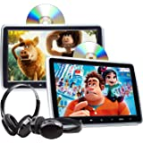 2021 Newest Headrest DVD Player Car DVD Player 10.1'' Dual Car DVD Players with 2 Headphones Eonon C1100A for Kids Support Sa