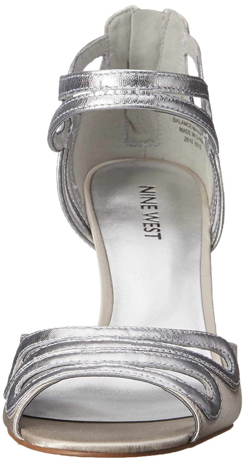 Nine West Grand Grand Grand Satin-Kleid Pump Silver/Silver eec814