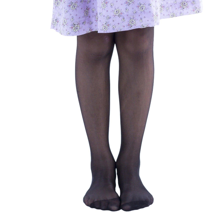 Toddler girls black sheer pantyhose