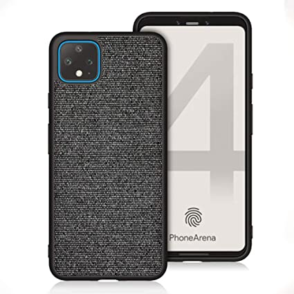 Amazon.com: ASONRL Compatible with Google Pixel 4XL Case, Slim Cloth Fabric Hard PC Back and TPU Shock Absorption Edge Full Protection Case (Black-Gray): Electronics