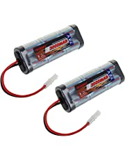 Tenergy 7.2V Battery Pack High Capacity 6-Cell 3000mAh NiMH Flat Battery Pack, Replacement Hobby Battery for RC Car, RC Truck, RC Tank, RC Boat with Standard Tamiya Connector (2-Pack)