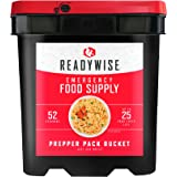 ReadyWise Emergency Food Supply, Drink and Entree Variety, 52 Servings