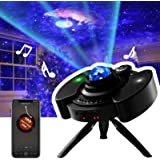 Star projector 4 in 1 Galaxy Projector Sky Lite Light Projector Built-in Stereo Speakers Night Light Projector with14 Lightin