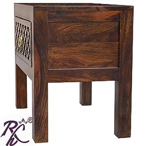 RAJ HANDICRAFT Carving Work Bedside Table