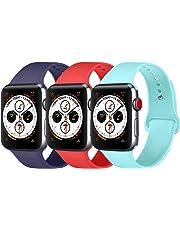 Amzpas Correa Compatible con para Apple Watch Correa 38mm 42mm 40mm 44mm, Correa de Reemplazo