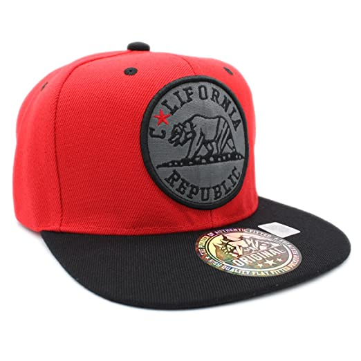 Black and Gold California Republic Trucker Hat by LET/'S BE IRIE