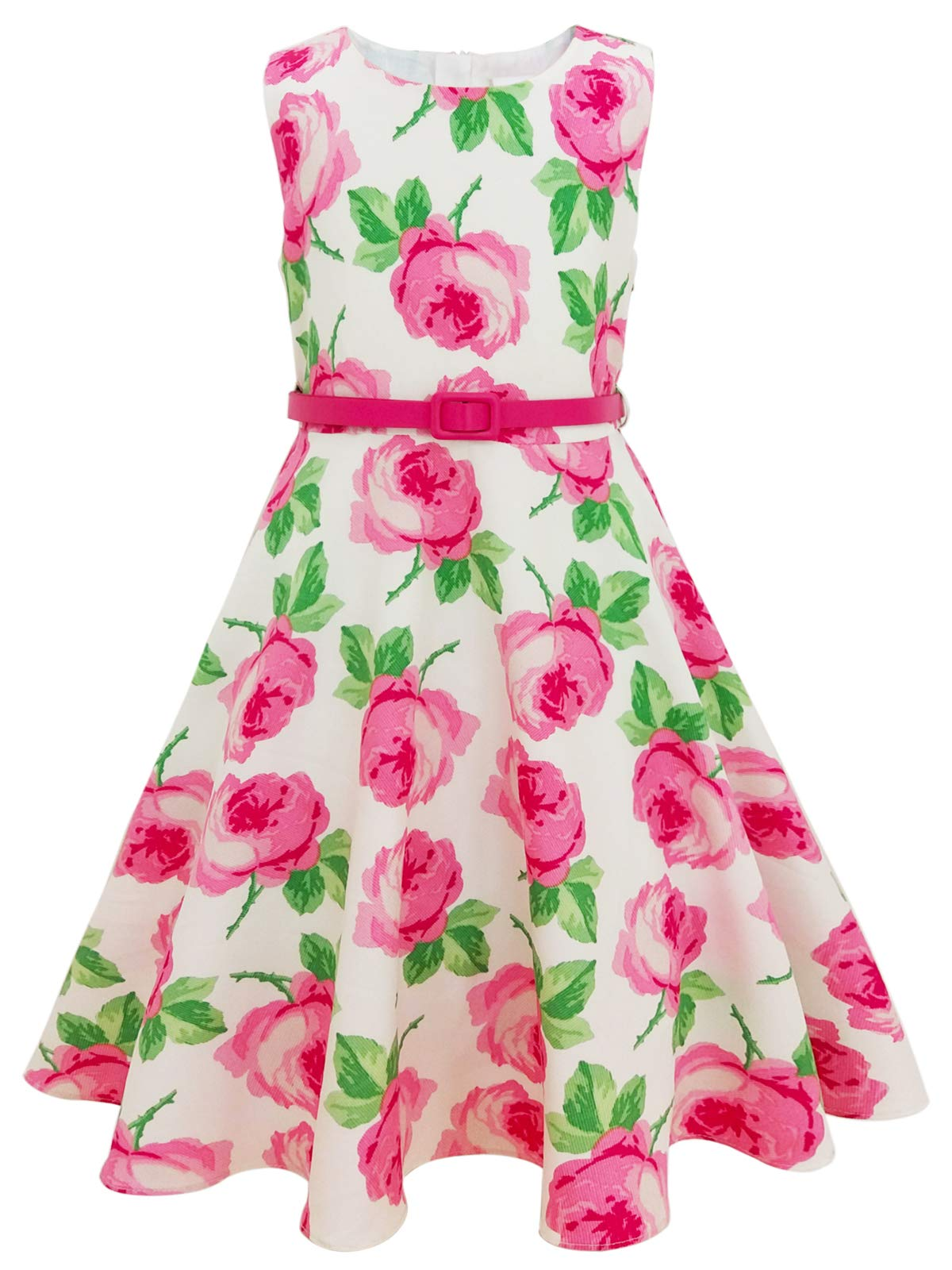a77fbcf12663 Bonny Billy Girls Classy Vintage Floral Swing Kids Party Dresses product  image