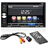 BOSS Audio Systems BVB9351RC Car DVD Player with Rearview Camera - Double Din, Bluetooth Audio and Calling, 6.2 Inch LCD Touc