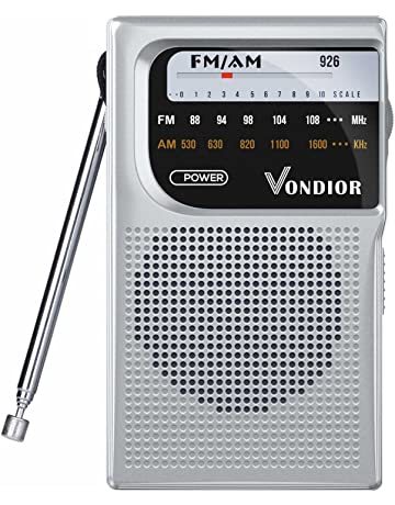 AM/FM Battery Operated Portable Pocket Radio - Best Reception and Longest Lasting. AM