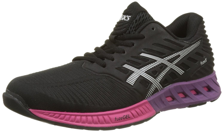 Asics Fuzex T689n, Zapatillas de Running para Mujer 40 EU Multicolor (Black/Silver/Pink Peacock)