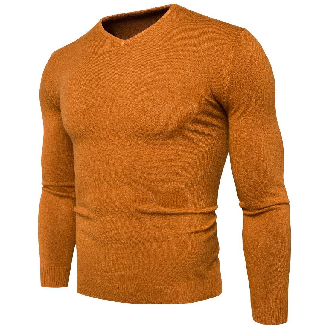 HY-Sweater Langarm Knit Pullover Herbst Herbst Herbst und Winter's Pullover Männer Pullover mit V-Ausschnitt Sau V für Freizeitaktivitäten B077RG6M36 Jacken Internationaler großer Name ab2be3
