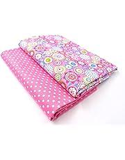 Raylinedo 2 piezas tejido de puro algodón impreso medio metro diseño de retales de tela para