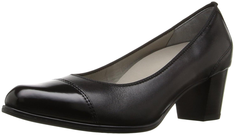 ara Women's Mckinley Dress Pump B01DOTFFSU 8 B(M) US|Black Calf/Sivato Toe