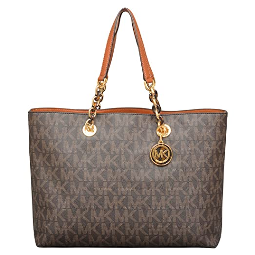 28a0bc496 ... closeout michael michael kors large cynthia tote in brown 344cb 34081