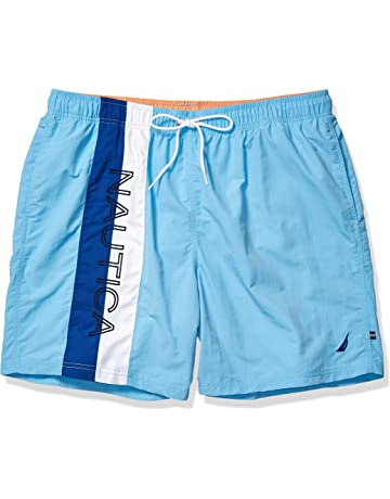 f8a3f2adfa Nautica Men's Big and Tall Quick Dry Logo Color Block Nylon Swim Trunk