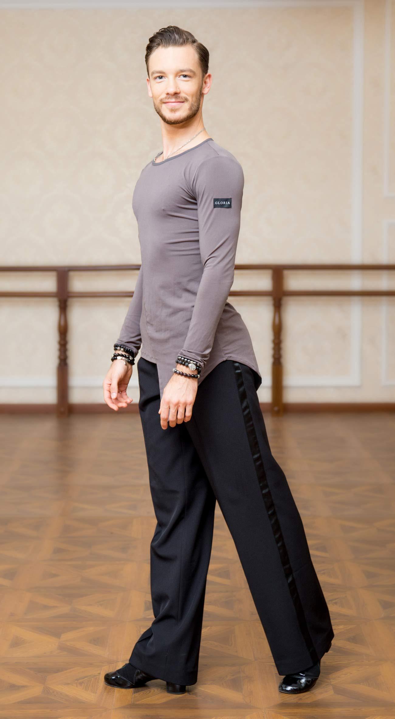 SCGGINTTANZ SuperStar Series:G5008 latin modern ballroom dance professional elastic crystal cotton tops shirt for men