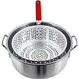 Chard FBA12, Aluminum Stock Pot with Strainer Basket, 10.5 Quart