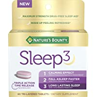 Nature's Bounty Sleep3, Tri-Layer Sleep Aid with Melatonin, L-Theanine, Chamomile...