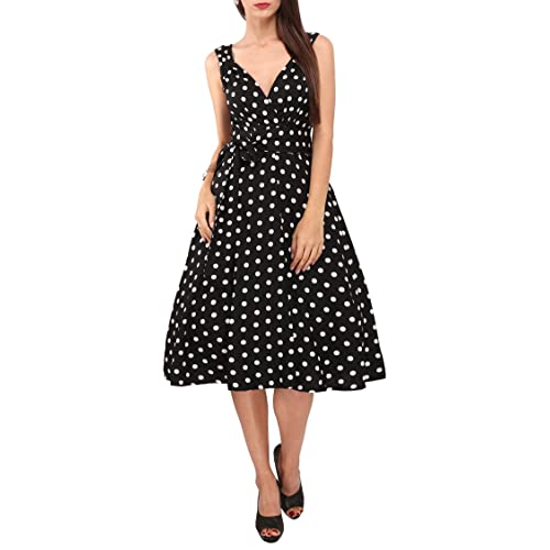 Womens Dress 40s 50s Swing Style Vintage Rockabilly Ladies Retro Prom Party Plus Size Dresses