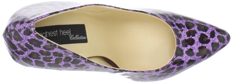 Highest Heel The Women's Hottie M Stiletto B00648QPBA 10 M Hottie US|Purple Leopard Glitter 6e121e