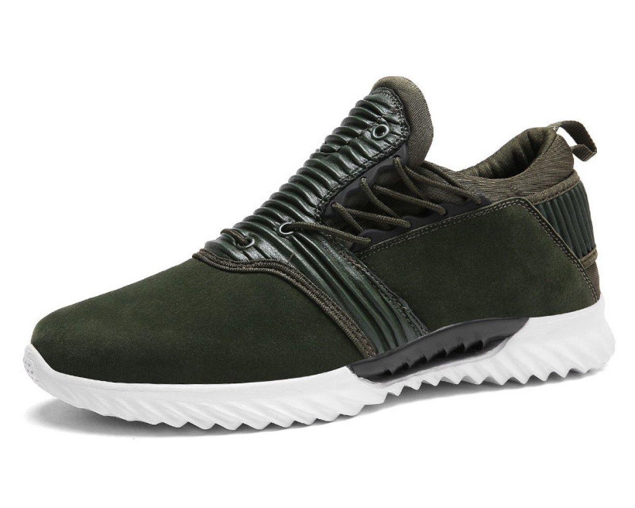 MUYII Zapatillas De Deporte De Cuero Para Hombres Zapatillas De Skate De Moda Zapatillas Slip-on Zapato Casual Street Sport Running Zapatillas Para Caminar Al Aire Libre,Green-EU40 EU40|Green