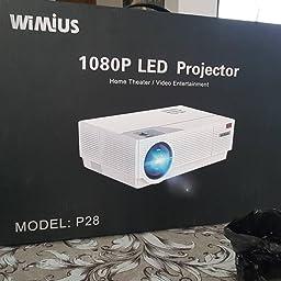 Proyector, WiMiUS 6600 Lúmenes Proyector Full HD 1920x1080P ...