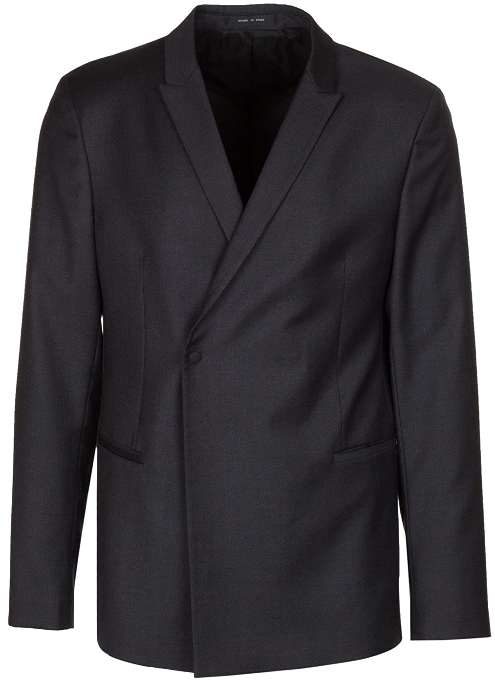 5597edc6 Black Emporio Armani Men's Black 100% 100% 100% Wool One Button Blazer  Sport Coat Jacket 8e14bb