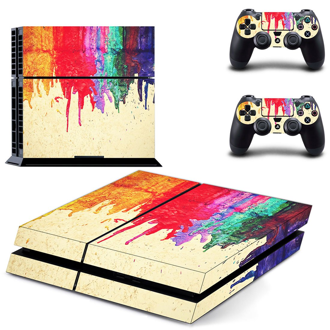 UUShop Paint Design Colors Skin Decal Cover for Sony PlayStation 4 PS4 Console Sticker