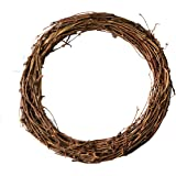 Ougual DIY Crafts Natural Grapevine Wreaths (10 Inch, 3 Pack)
