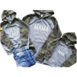 Family Matching Fleece Hoodies Pullover Sweatshirts Hooded Sweater Mini Boss Casual Daddy Mommy and Me Outfits