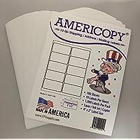 Americopy 10up Labels, 4